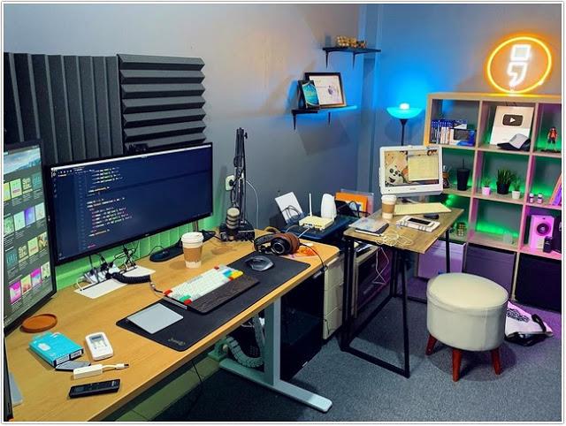 Ruang kerja minimalis untuk dua orang;Ruang Kerja, Desain dan Tampilan yang Menarik;