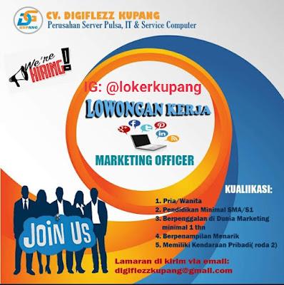 Lowongan Kerja CV Digiflezz Kupang Sebagai Marketing Officer
