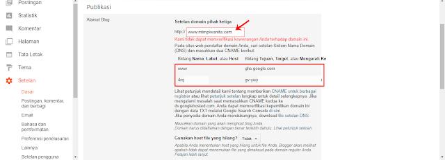 Masukkan Custom Domain yang Ingin Digunakan