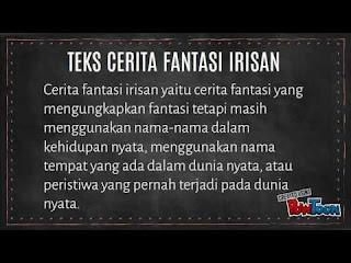 CONTOH TEKS FANTASI PENDEK BAHASA INDONESIA