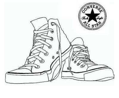 Hình tô màu đôi giày converse