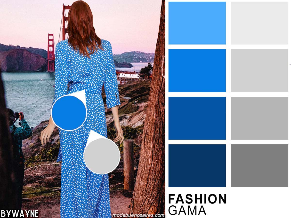 Zules y grises moda colores primavera verano 2020. Moda 2020 colores.