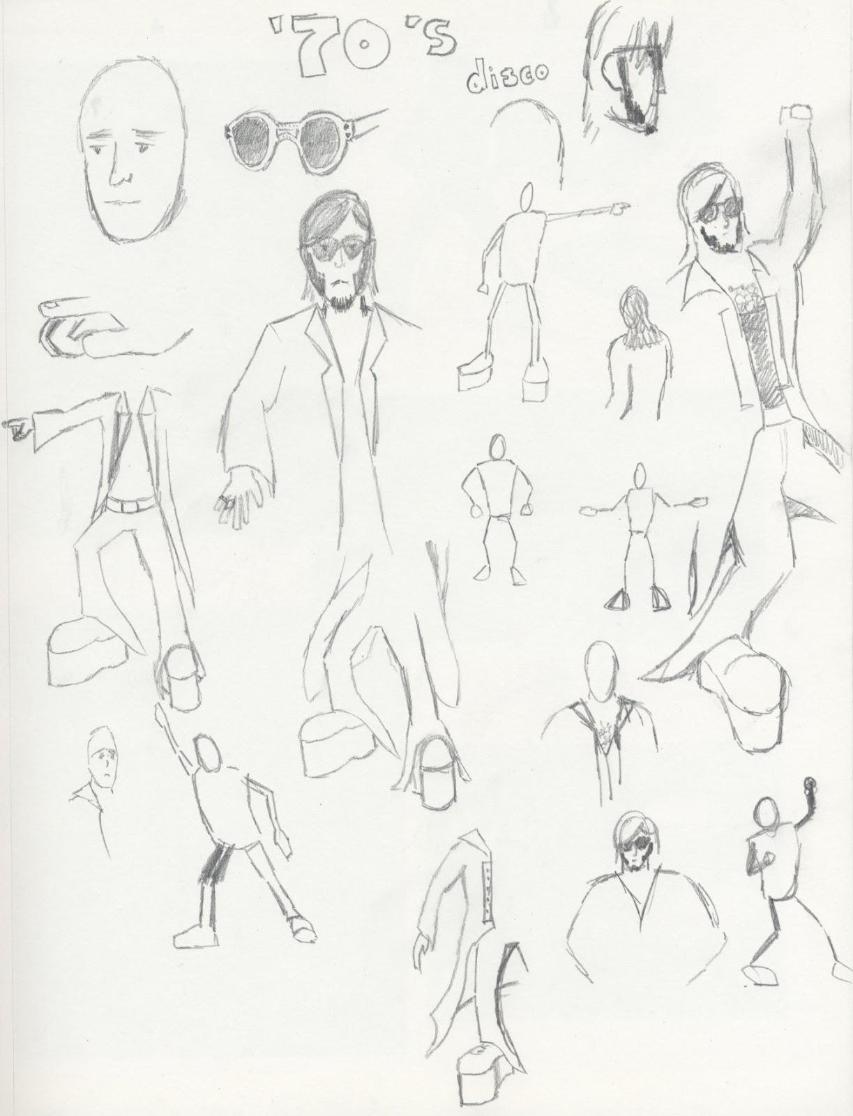 J Bennett Artwork 70s Character