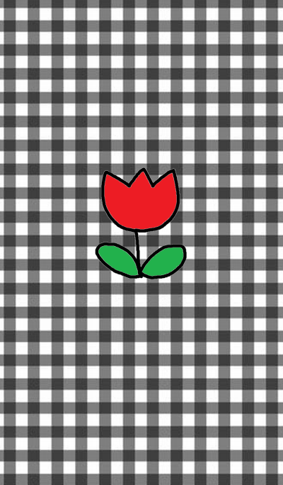 happpy red tulip