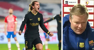 Barca boss Koeman: 'I'm happy for Griezmann, he deserved for things to go well for him'
