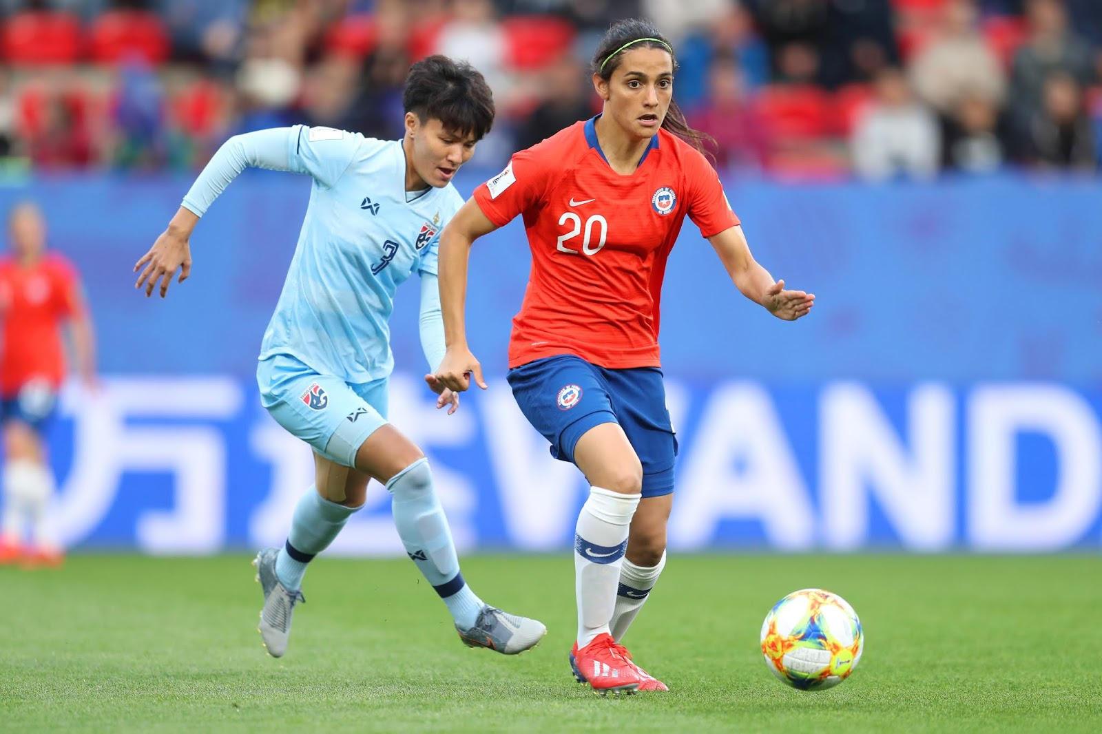 Tailandia y Chile en Copa Mundial Femenina de Fútbol Francia 2019, 20 de junio