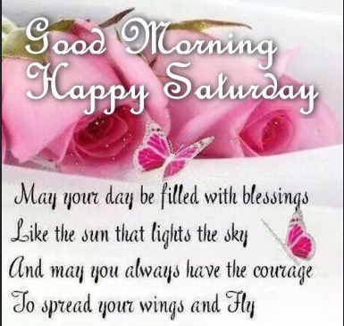 Happy good morning Saturday blessings images