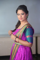 Shilpa Chakravarthy in Purple tight Ethnic Dress ~  Exclusive Celebrities Galleries 072.JPG
