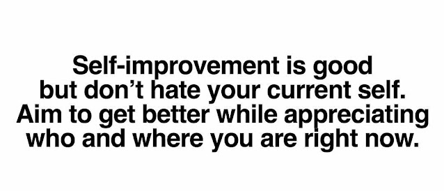 self-improvement is important but don't hate your current self.