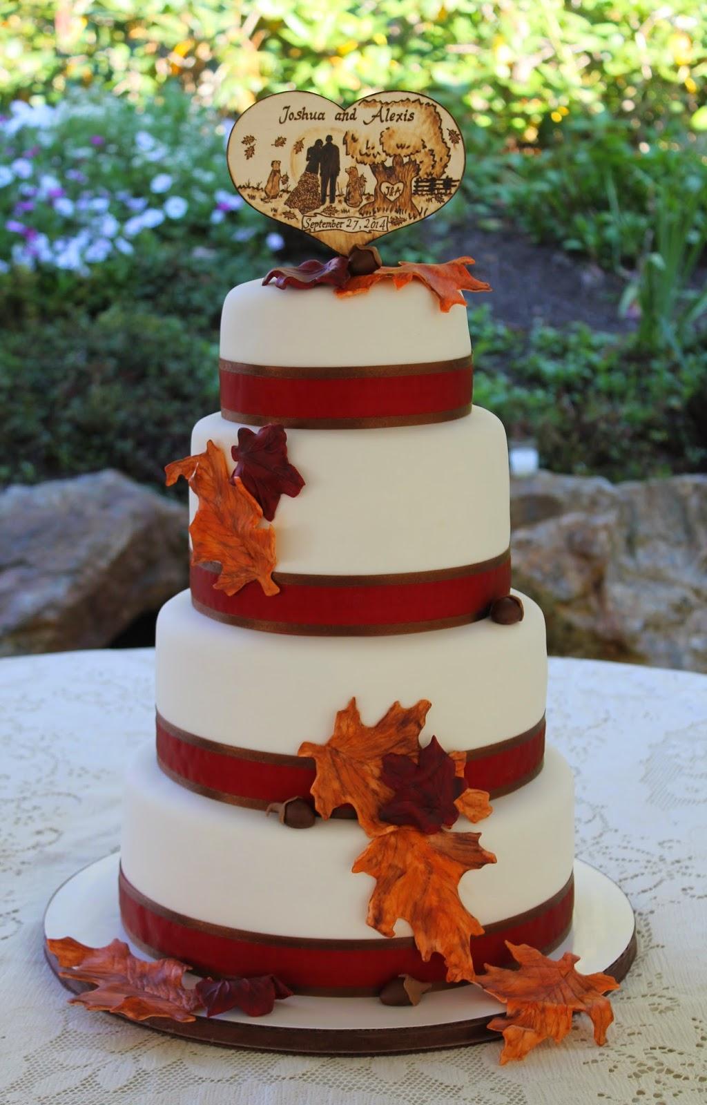 Creative Cakes By Lynn Rustic Autumn Wedding Cake
