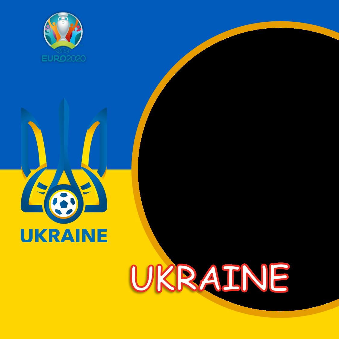Template Background Bingkai Foto Twibbon Ukraina Euro 2020 - Ukraine Euro 2021