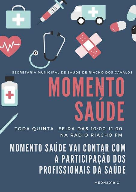 Estreia na próxima quinta-feira(17), o Programa Momento Saúde na Rádio Riacho FM