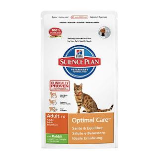GREAT DISCOUNT  Rich Omega 3s Hill's Science Plan Feline Adult Optimal Care Rabbit 2kg, offer £13.30