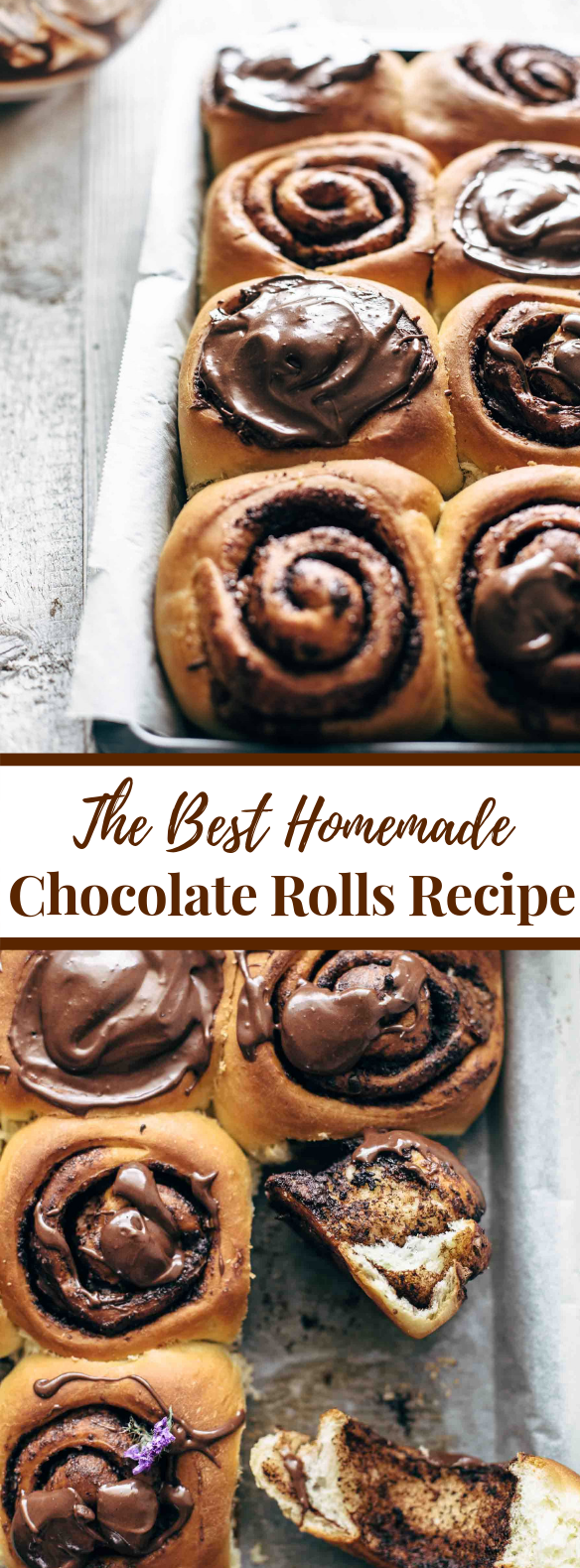 THE BEST HOMEMADE CHOCOLATE ROLLS RECIPE #desserts #frostingrecipes