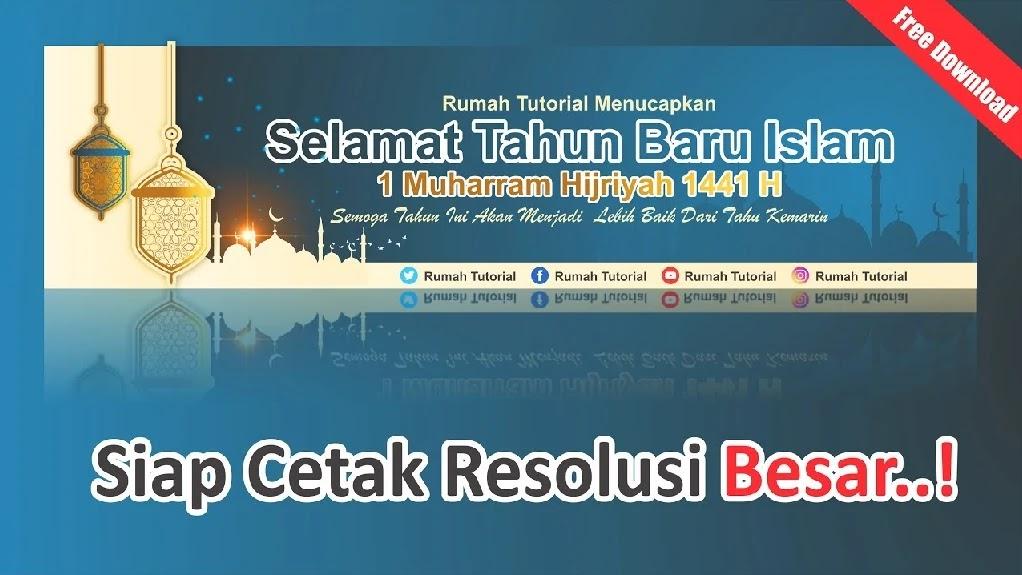 Free Banner Cdr Kumpulan Desain Spanduk Tahun Baru Hijriyah 1442 H 2020 Templatekita Com