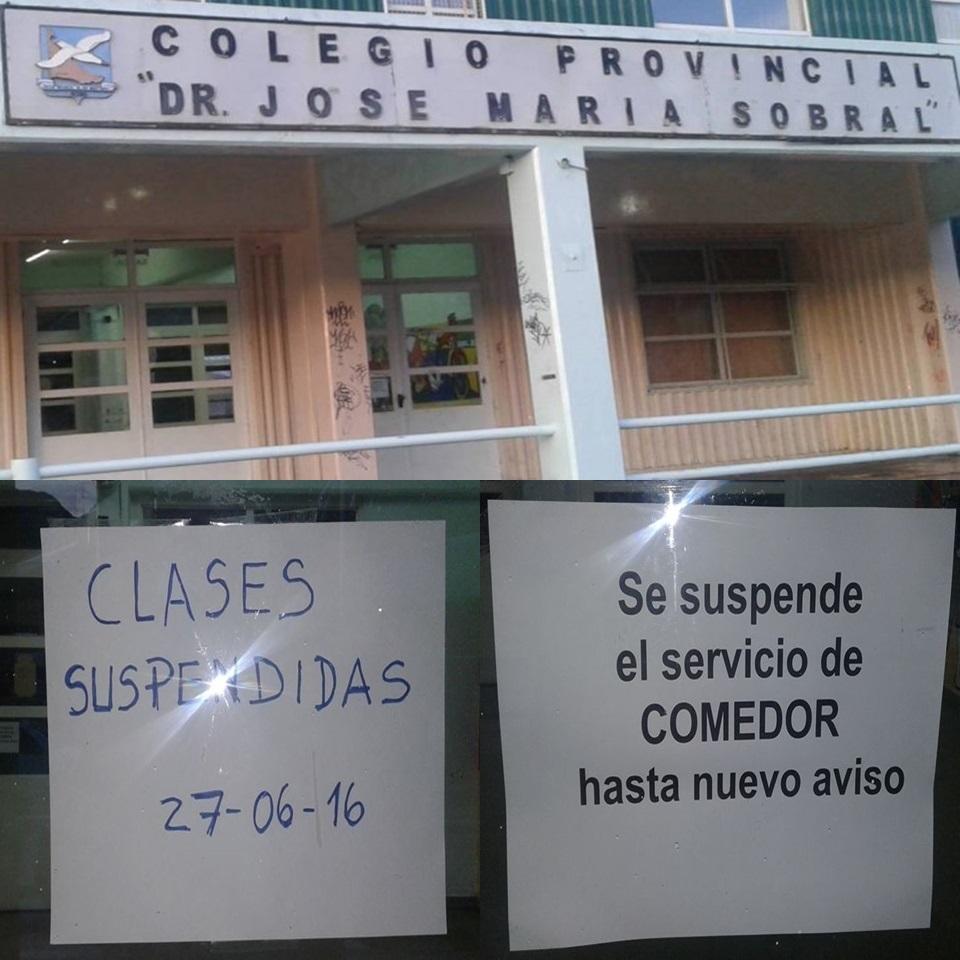 Colegio Sobral sin clases por perdidas de gas