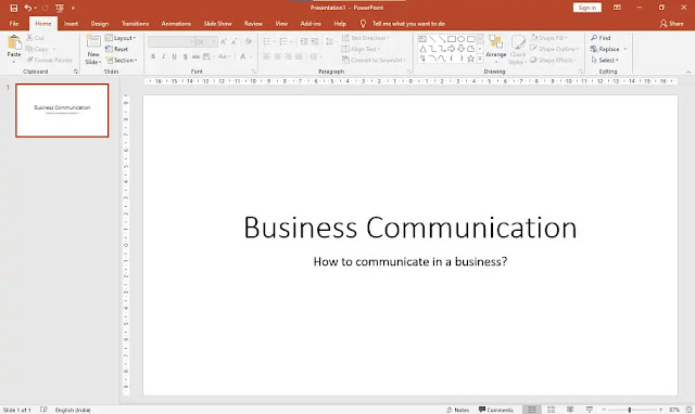 type the topic of presentation in Title and any related information about the topic to Subtitle