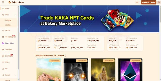 Screenshot Website BakeryToken (BAKE)