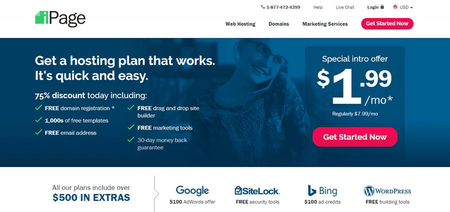 Hướng dẫn đăng ký hosting Ipage miễn phí tên miền