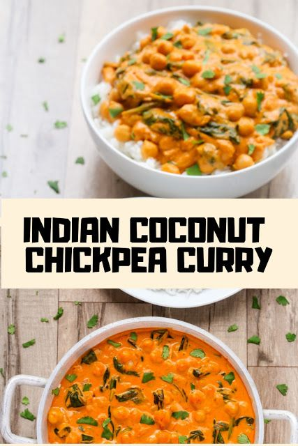 INDIAN COCONUT CHICKPEA CURRY