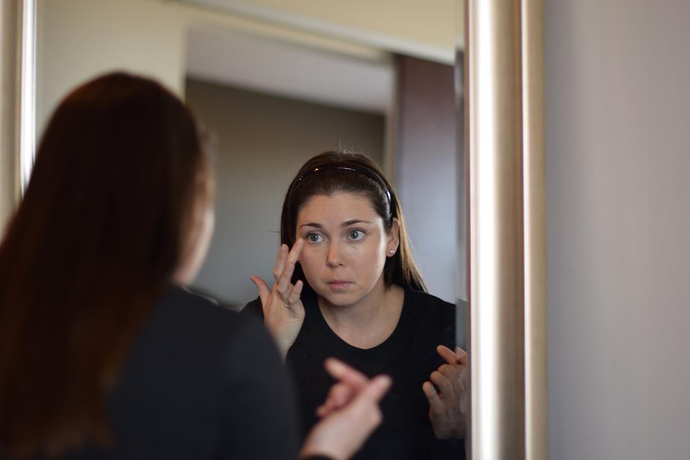 IT Cosmetics Bye-Bye Under Eye in morning routine.