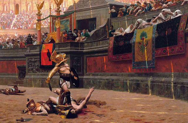 Gladiador en el Coliseo romano