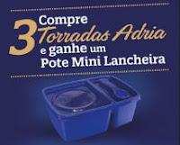 Brinde Pote Mini Lancheira Torradas Adria