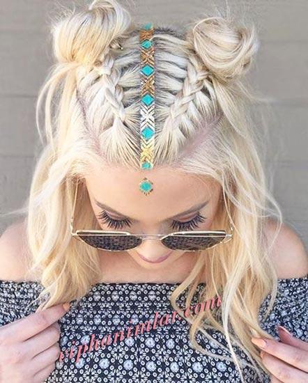 Sevimli ve dikkat çekici yazlık saç modeli - www.viphanimlar.com
