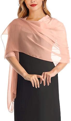 Pink Silk Chiffon Scarves Shawls