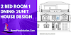 2 Bed Room 1 Dining 2unit House Design  House Plan  With Floor Plan and Front Elevation.