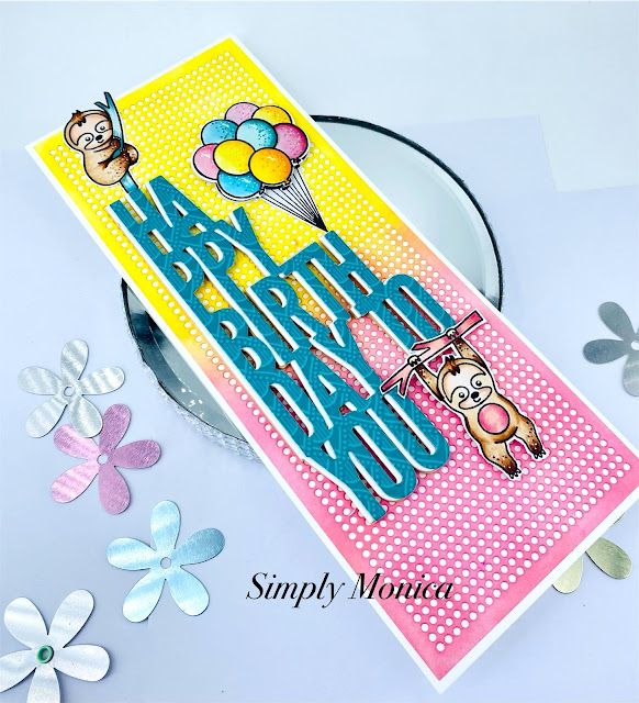 Sunny Studio Stamps: Floating By Customer Card by Monica