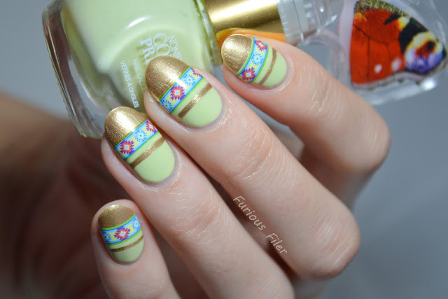 water decals bornprettystore native striped nails nail art