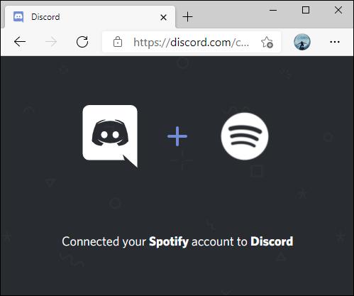 تم توصيل Spotify بتأكيد Discord.