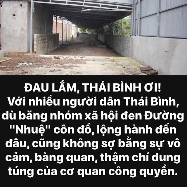 Vì sao người dân Thái Bình tố Công An bao che cho băng nhóm XHĐ Đường Nhuệ?