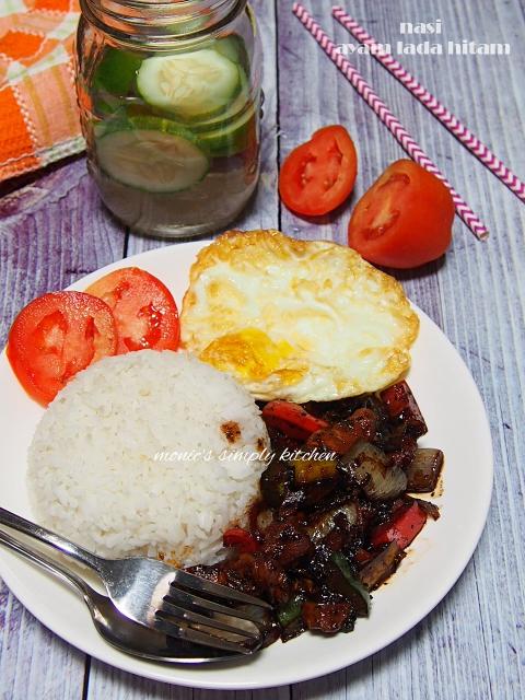resep nasi ayam lada hitam