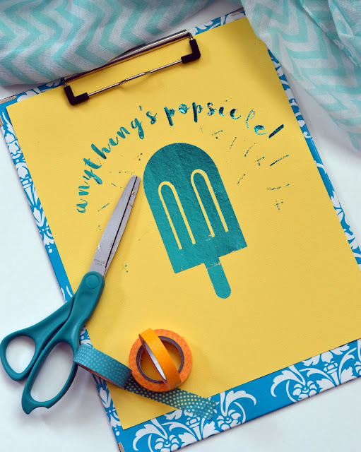 deco foil anything's popsicle summer sign