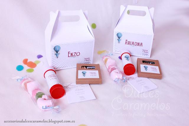 caja de chuches y actividades para bodas