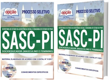 Apostila Concurso SASC-PI 2018 - Socioeducador