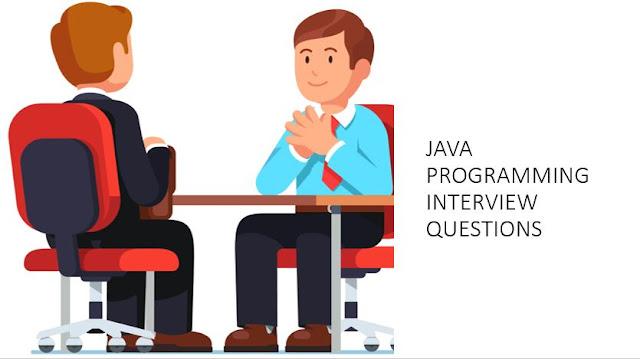Popular JAVA Programming Interview Questions - Part 1