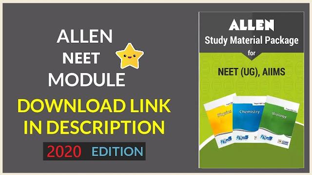 Allen NEET Modules 2020