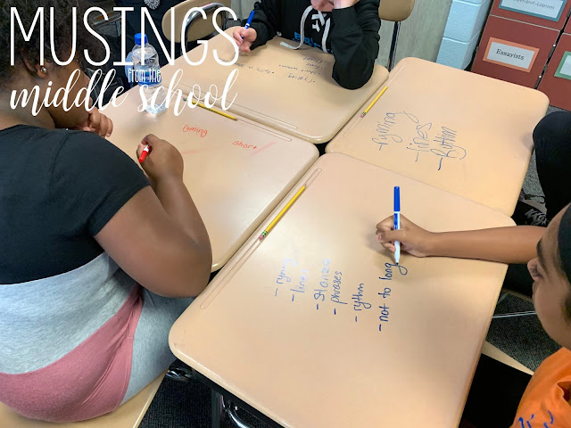 Writing on Desks with Dry Erase Markers