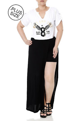 Look Plus Size Top Cropped