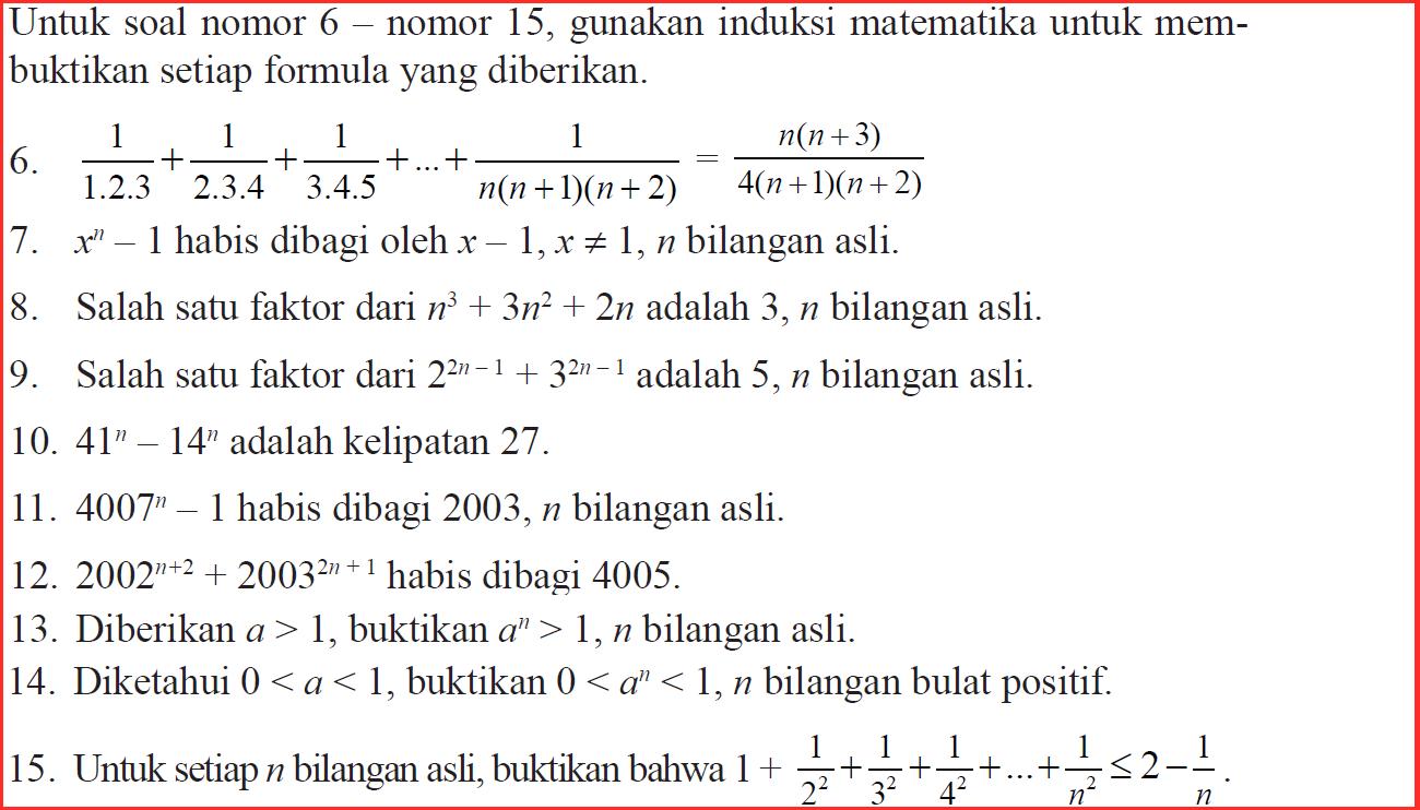 Belajar Induksi Matematika (*Soal Dari Buku Siswa Matematika Kurikulum 2013)