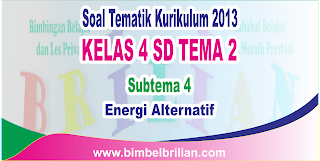 Soal Tematik Online Kelas 4 SD Tema 2 Subtema 4 Energi Alternatif Langsung Ada Nilainya