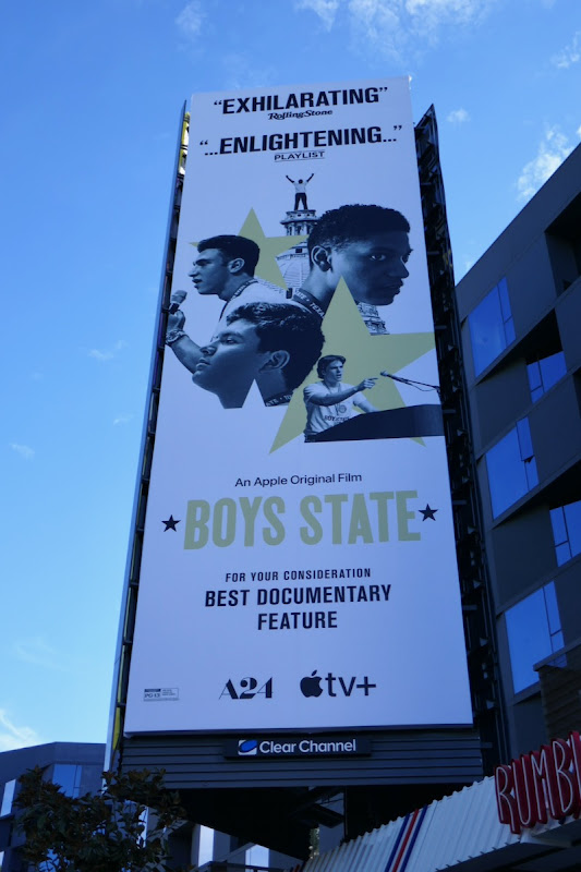 Boys State documentary FYC billboard