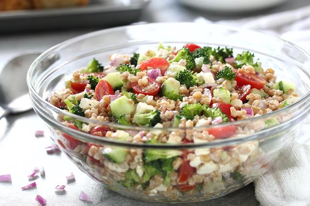 Farro Salad with Red Wine Vinaigrette