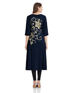 Rs. 899 Blue Synthetic Shree Kurta by FashionDiya