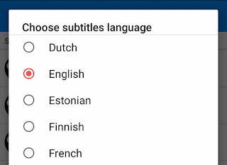 Select subtitles language