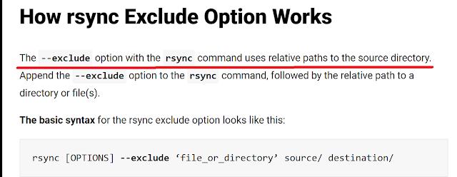rsync exclude