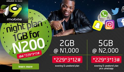 2019 9Mobile Latest List of Data Plans, Prices and Activation Codes